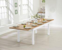 Sandringham 180cm Oak and White Extending Dining Table