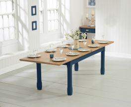 Sandringham 180cm Oak and Blue Extending Dining Table