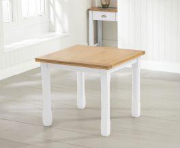 Sandringham 90cm Oak and White Flip Top Extending Dining Table