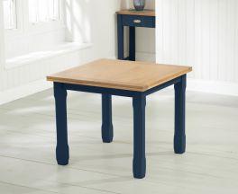 Sandringham 90cm Oak and Blue Flip Top Extending Dining Table