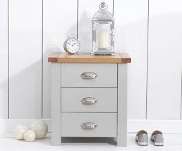 Sandringham Oak And Grey 3 Drawer Nightstand