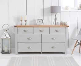 Sandringham Oak And Grey 4 + 3 Drawer Chest