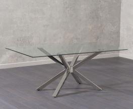 Renato 200cm Glass Dining Table