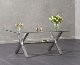 Ricardo 200cm Glass Dining Table