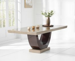 Rivilino Brown 200cm Marble Dining Table