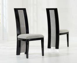 Rivilino Black Dining Chairs (Pair)