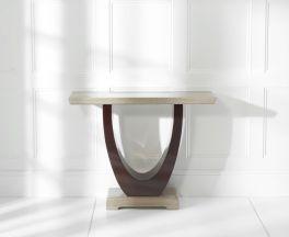 Rivilino Brown Marble Console Table