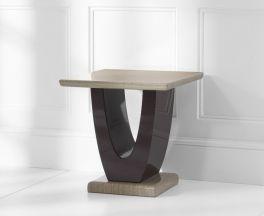 Rivilino Brown Marble Lamp Table