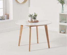 Robina White/Oak 110cm Round Dining Table