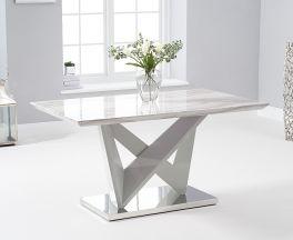 Rosario 150cm High Gloss Light Grey Dining Table
