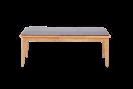 Seth Grey and Oak Large Dining Bench