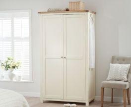 Sandringham Oak And Cream All Hanging Wardrobe