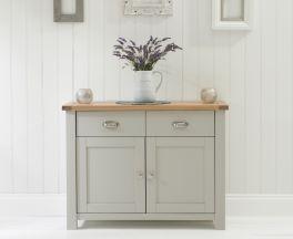 Sandringham 2 Door 2 Drawer Oak & Grey Sideboard