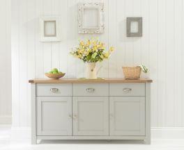 Sandringham 3 Door 3 Drawer Oak & Grey Sideboard