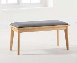 Seth Grey/Oak Cushion Seat Bench
