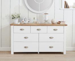 Sandringham Oak and White 3 Over 4 Drawer Chest