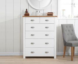 Sandringham Oak and White 2 Over 4 Drawer Chest