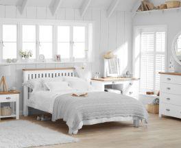 Sandringham Oak and White Double Bed