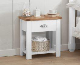 Sandringham Oak And White 1 Drawer Nightstand