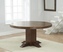 Turin 150cm Dark Oak Round Pedestal Dining Table