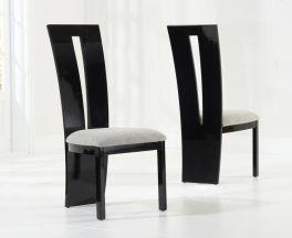 Valencie Black Dining Chairs (Pair)