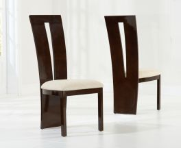Valencie Brown Dining Chairs (Pair)