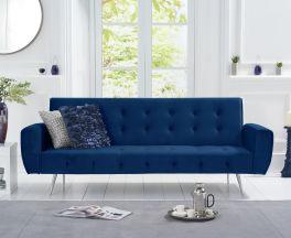 Valentina Sofa Bed in Blue Velvet