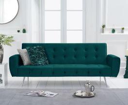 Valentina Sofa Bed in Green Velvet