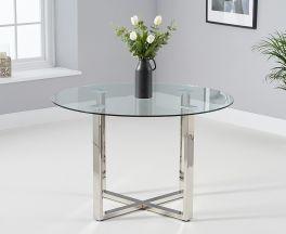 Vidro 120cm Round Glass Dining Table