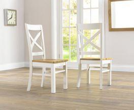 Cavanaugh Cream & Oak Chairs (Pairs)