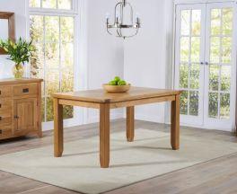 York 140cm Oak Dining Table