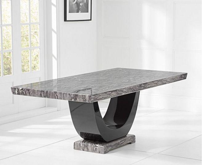 Rivilino Dark Grey 170cm Marble Dining Table
