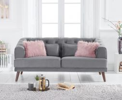 Destiny Grey Velvet 2 Seater Sofa