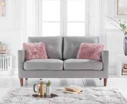 Carrie Grey Velvet 2 Seater Sofa