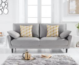 Caracus Grey Velvet 3 Seater Sofa