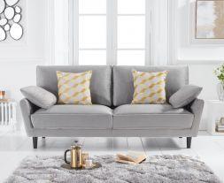 Caracus Grey Velvet 3 Seater Sofa
