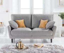 Caracus Grey Velvet 2 Seater Sofa