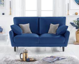 Caracus Blue Velvet 2 Seater Sofa