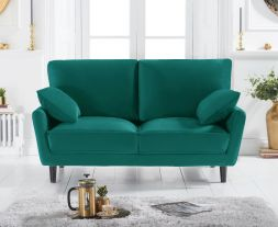Caracus Green Velvet 2 Seater Sofa