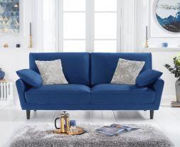 Caracus Blue Velvet 3 Seater Sofa