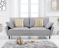 Caracus Grey Linen 3 Seater Sofa
