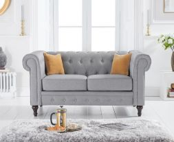 Cardiff Grey Linen 2 Seater Sofa