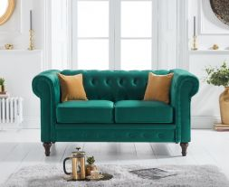 Cardiff Green Velvet 2 Seater Sofa