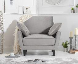 Caracus Grey Velvet Armchair