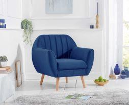 Luxor Blue Velvet Armchair