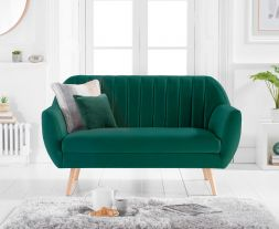 Luxor Green Velvet 2 Seater Sofa