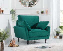 Caracus Green Velvet Armchair