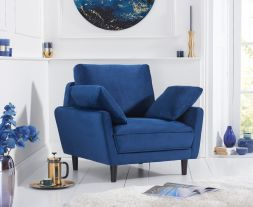 Caracus Blue Velvet Armchair