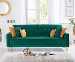 Ramsey Green Velvet Sofa Bed
