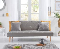 Waltham Grey Velvet Sofa Bed